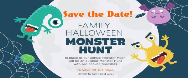 Save the evening of Friday, Oct. 30th for some fun family monster hunting at Forest Grove school. More info to come.